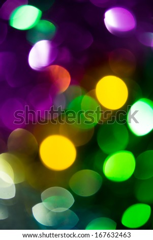 Abstract circular colorful bokeh from the party light