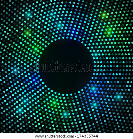 Abstract Circular Colorful Bright Background. Raster illustration  - stock photo