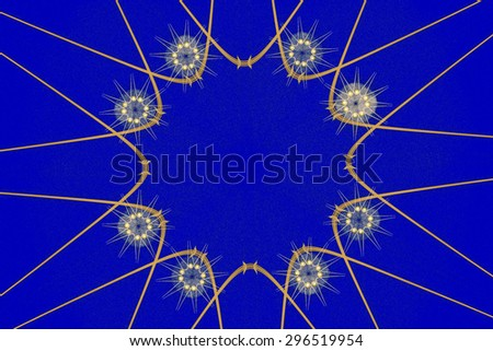 Abstract circular  fractal artwork background, creative flower design element - stock photo