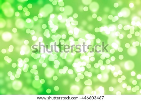 abstract circular green bokeh for background