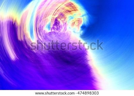 Abstract circular motion blurred background in bright blue,pink,purple