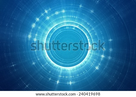 Abstract circular science fiction futuristic background - stock photo