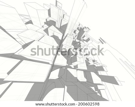abstract city buildings