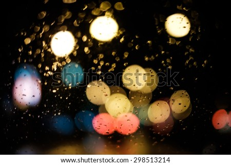 Abstract City light bokeh for background