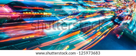Abstract city traffic