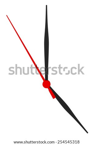 Abstract clock with arrows no numbers on a white background. - stock photo