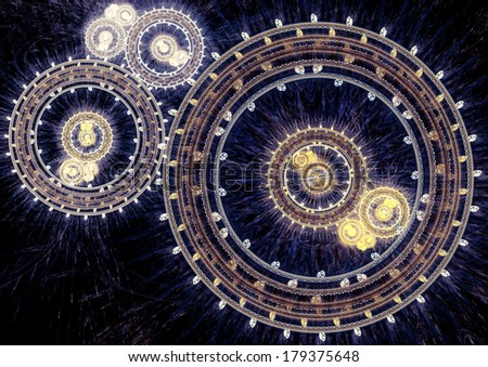 Abstract clockwork machine