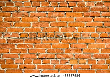 abstract close-up brick wall background - stock photo