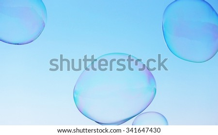 abstract close-up soap bubble background modern simple design with copyspace - stock photo