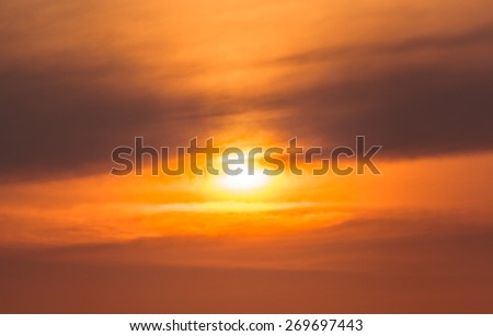 Abstract close up sunset cloud