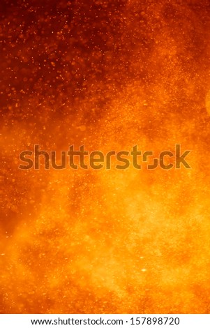 abstract closeup view of an volcano eruption - stock photo