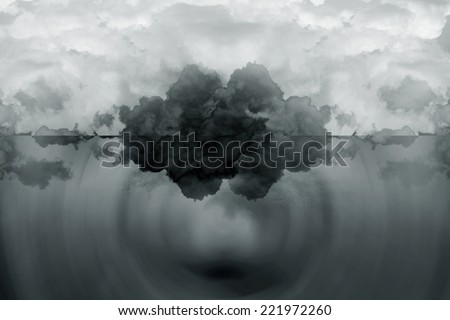 abstract cloud background.Artistic abstraction composed of nebulous - stock photo