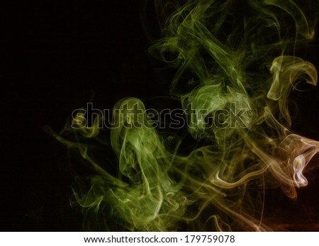 Abstract cloud of smoke shot closeup as background for halloween - stock photo