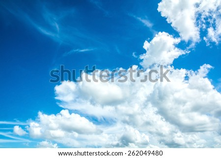 abstract cloud on the sky - stock photo
