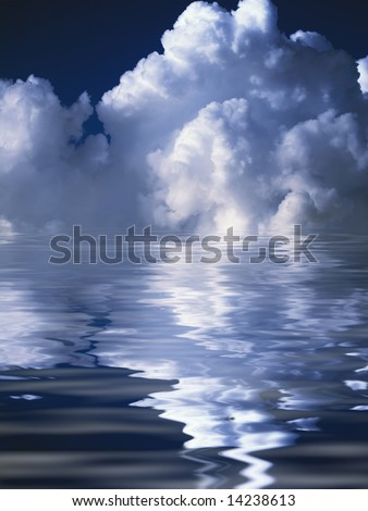 abstract clouds over the water