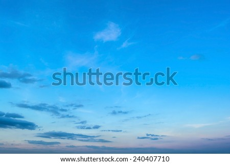 abstract clouds with sky in the evening - stock photo