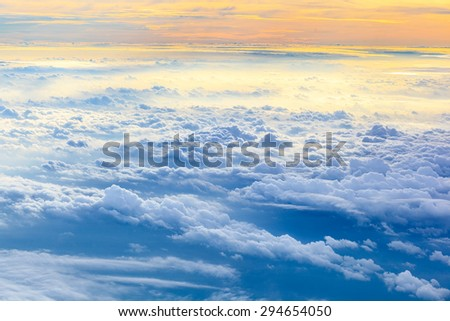 Abstract cloudscape from bird eye view - stock photo