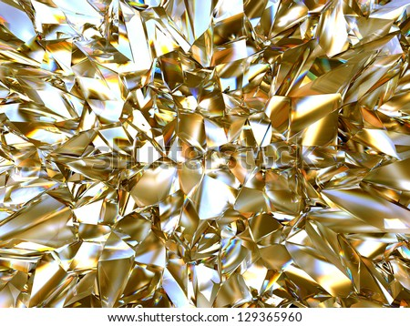 abstract cold crystal futuristic background - stock photo