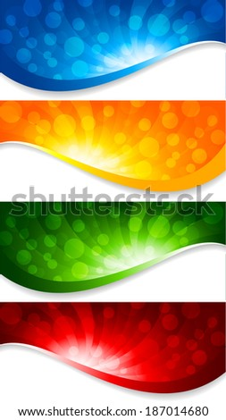 Abstract collection of banners; clip-art, raster copy
