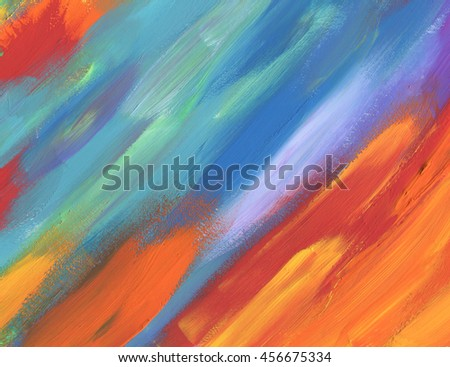 Abstract color acrylic painted background - stock photo