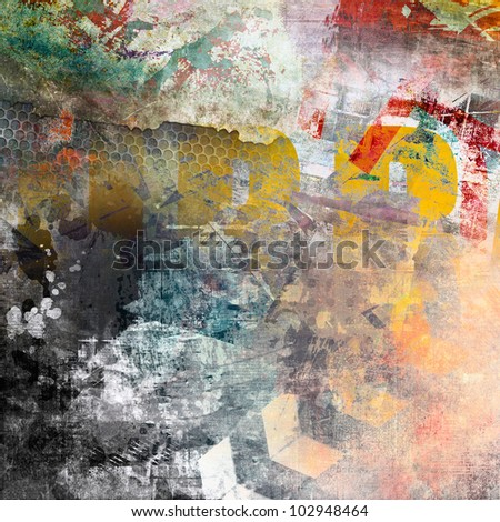 Abstract color background, grunge illustration - stock photo
