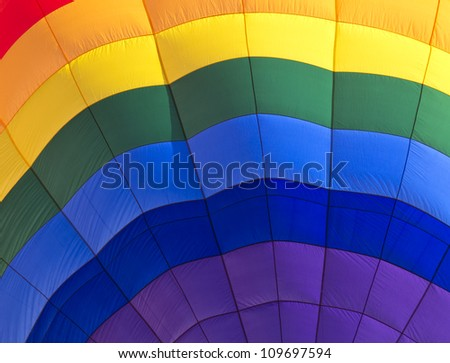 Abstract color background of closeup into balloon - stock photo