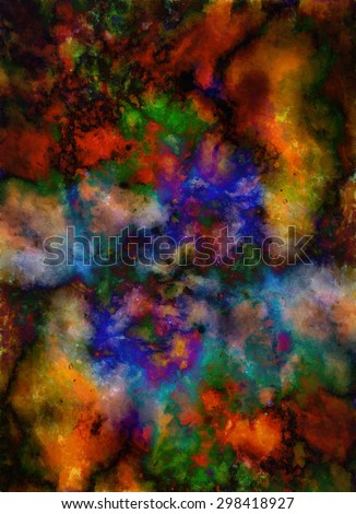 abstract color Backgrounds, painting collage with spots, rust structure