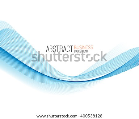 Abstract color blue wave design element. Blue wave background. Blue transparent wave. - stock photo