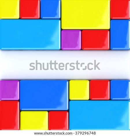 Abstract color boxes background in the design of the information related to the abstraction art - stock photo