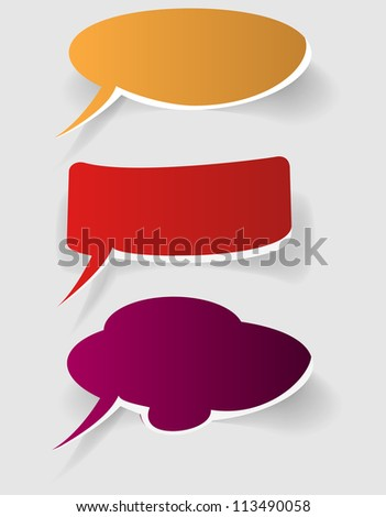 abstract color bubbles on white background - vector version in portfolio - stock photo