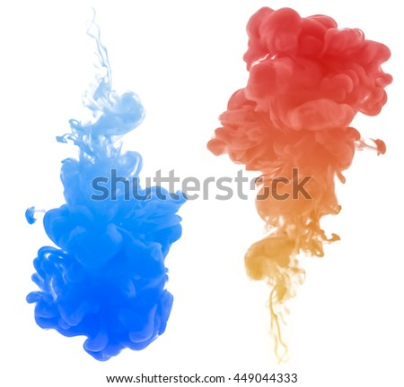 Abstract color cloud.This is ink swirling in water and This is 3D rendering or 3D illustration.