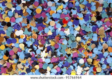 abstract color confetti - background paper - stock photo