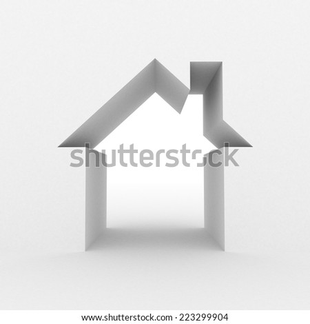 Abstract color house - stock photo