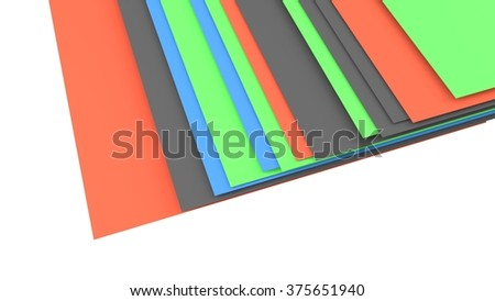 abstract color layers set - stock photo