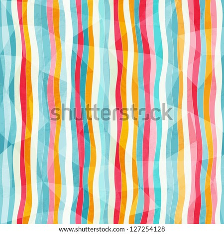 abstract color lines seamless pattern with paper effect (raster version)