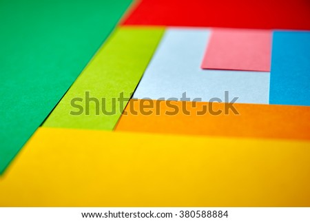 abstract color paper - stock photo