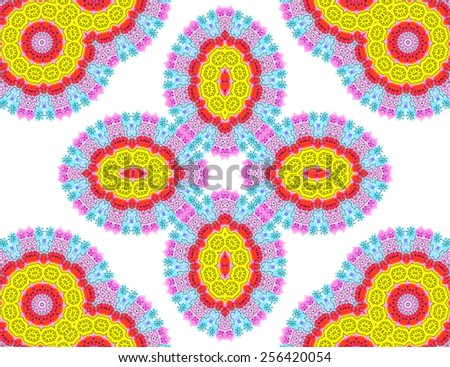 Abstract color pattern on white background - stock photo