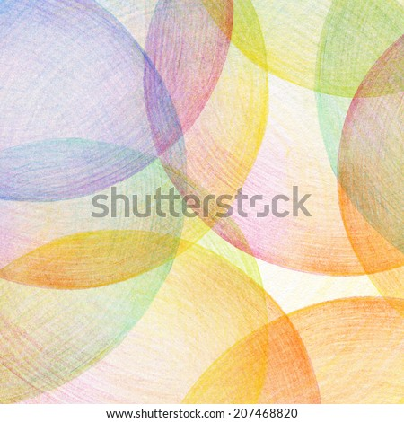 Abstract color pencil scribbles background. Paper texture. - stock photo