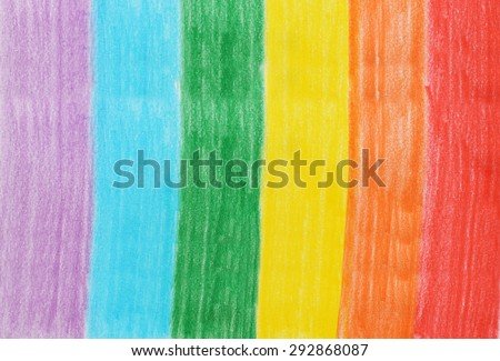 Abstract color pencils rainbow colors background