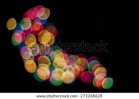 Abstract color photograph on a black background - stock photo