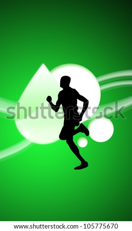 Abstract color Running sport background with space