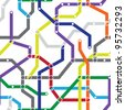 Abstract color seamless pattern - a metro scheme - stock photo
