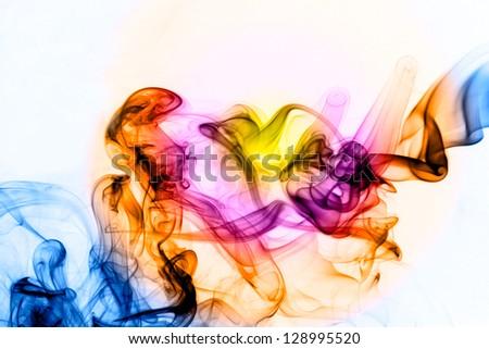 Abstract color smoke - stock photo