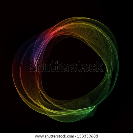 Abstract color smoke circle. Raster version of the loaded vector. - stock photo