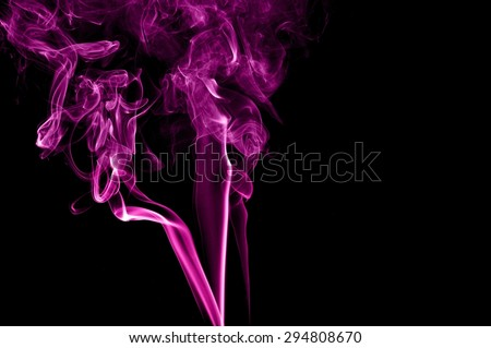 Abstract color smoke on black background, purple smoke background,purple ink background,Violet smoke, beautiful color smoke