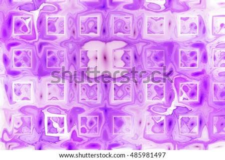 Abstract color splashes on white background. Fantasy fractal texture in purple and pink colors. Digital art. 3D rendering.