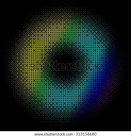 abstract colored background on black. Raster version - stock photo