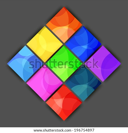 abstract colored background with squares
