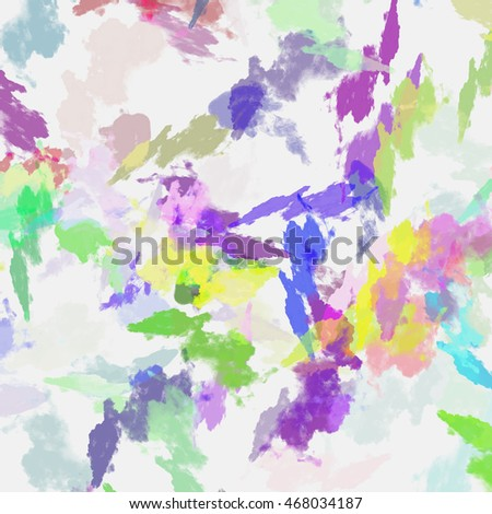 Abstract colored paper. Colored paint stains isolated on white background.