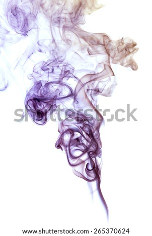 Abstract colored  smoke isolated on white background - stock photo